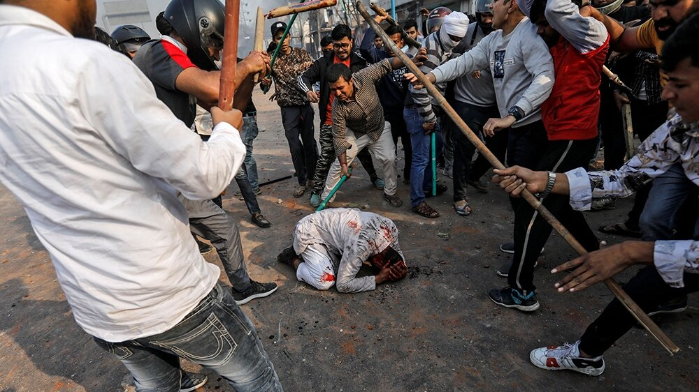 Pro BJP thugs beat protester