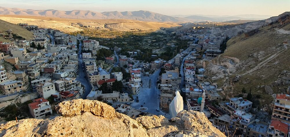 The Aramaic-speaking Christian town of Ma'aloula, liberated from al-Qaeda by the Syrian govt and its allies, most notably Hezbollah.