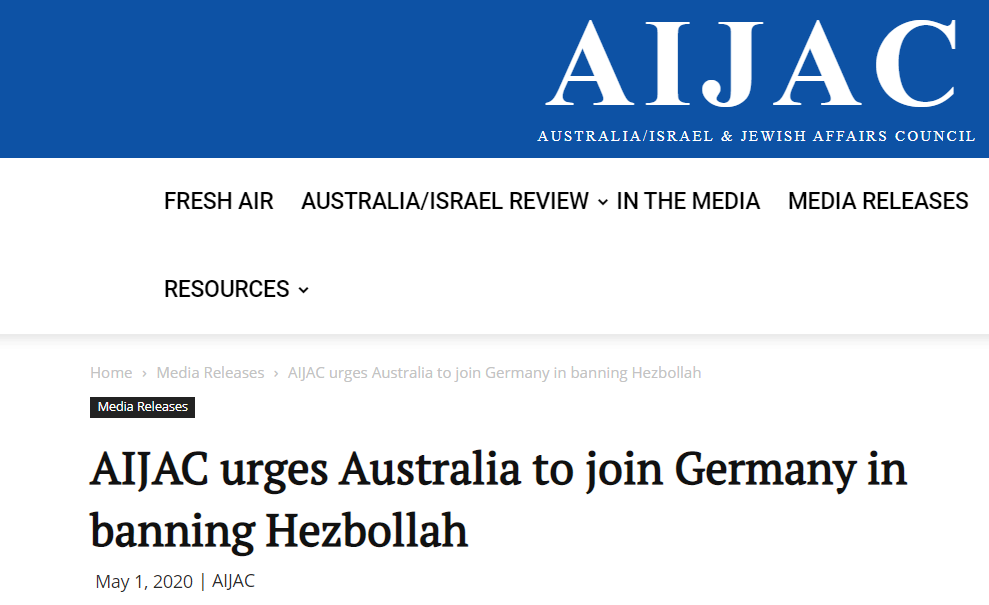 AIJAC pushing for the criminalisation of Australians solely based on the interests of Israel